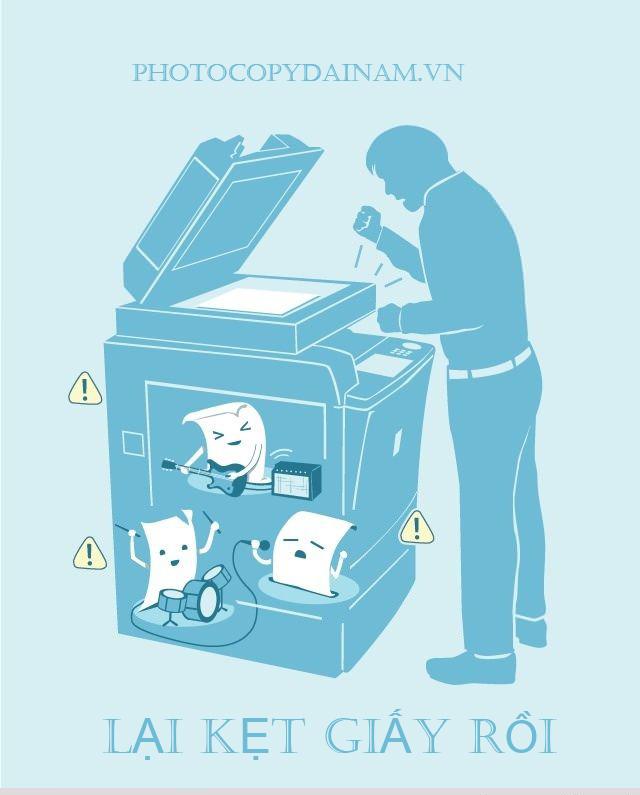Kẹt giấy máy photocoy