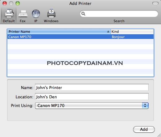 driver máy photocopy mac os