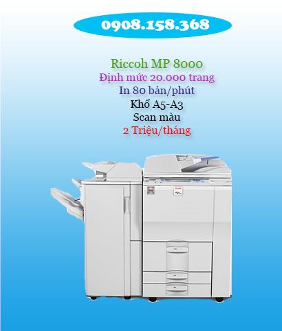 cho thuê máy photocopy văn phòng ricoh mp8000